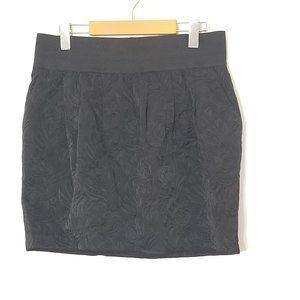 Tristan | Black Textured Mini Skirt Black Large
